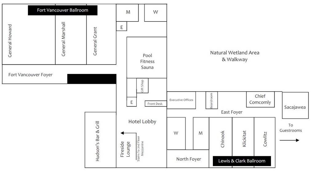 The Heathman Lodge Meeting Rooms Schematic
